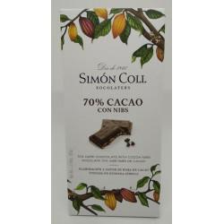 Simón Coll 70% Cacao con Nibs